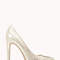 FOREVER 21 Disco Darling Pumps Gold 6.5