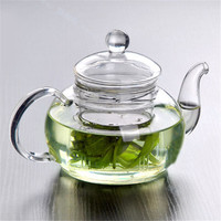 Practical Resistant Bottle Cup Glass Teapot with Infuser Tea Leaf Herbal Coffee 350ML Drop Shipping