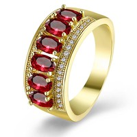 Gold Fashion Trend Ring Dance Exclusive Ring