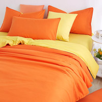 2016 New Minimalist Pure Style Bedding Sets Bed Sheet and Duver Quilt Cover Pillowcase Soft and Comfortable King Queen Full Twin