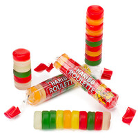 Haribo Roulette Gummy Candy Rolls: 36-Piece Box