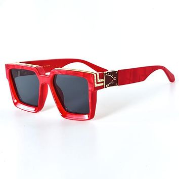 Red Chrome Plated | Square Glasses