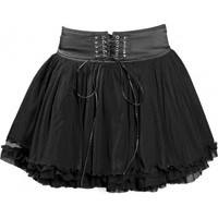 Heartbeat - short black gothic skirt by Queen of Darkness