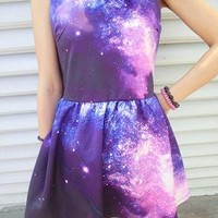 Starry Night galaxy star space dress from mancphoebe