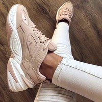 Nike M2K Tekno 2018 new trend retro platform casual running shoes pink