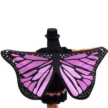 Soft Fabric Butterfly Wings Shawl Fairy Ladies Nymph Pixie Costume Accessory G