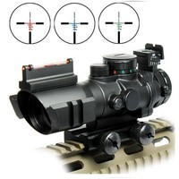 Airsoftsports Gun Riflescope 4x32 Rifle Scope Reticle Fiber Optic Sight Scope Rifle airsoft Gun Hunting airsoftsports Gun