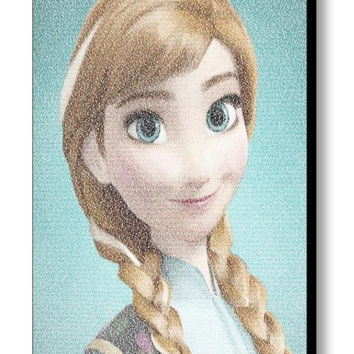 Frozen Anna For The First Time in Forever Lyrics Mosaic Framed/Unframed Print Limited Edition