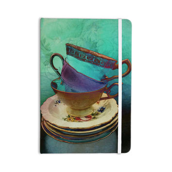 """alyZen Moonshadow """"Mad Hatters T-Party I"""" Turquoise Everything Notebook"""