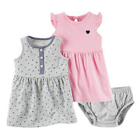 Baby Girl Carter's Dress & Bloomers Set