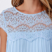 Darling Demi Light Blue Lace Shift Dress