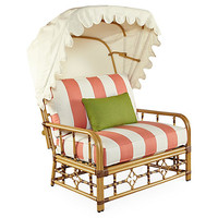 MImi Cuddle Chair & Canopy, Coral Sunbrella - Celerie Kemble - Brands | One Kings Lane