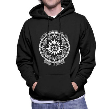 Winchester Brothers Saving people hunting tings family business art printed on Unisex Hoodie