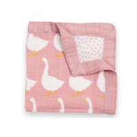 Milkbarn Mini Lovey Baby Blanket (Rose Goose)