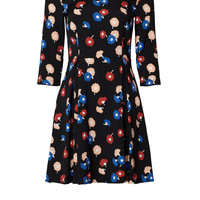Suno Abstract Floral Flare Dress