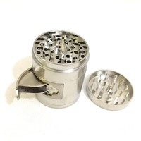 High Quality Zinc Alloy 55mm 4 Levels Herb Grinder with Windows Tobacco Smoke Super Shredder for Glass Pipe Water Pipe