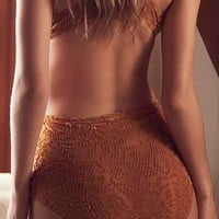 Out From Under Sabrina Burnout Velvet High-Waisted Undie - Urban Outfitters