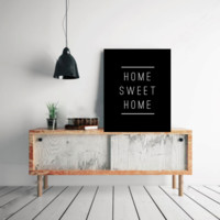 """Typography Quote Poster """"Home Sweet Home"""" Home Dorm Living Room Decor [UNFRAMED]"""