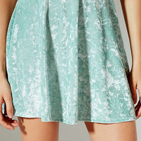 UO Crushed Velvet A-Line Skirt | Urban Outfitters