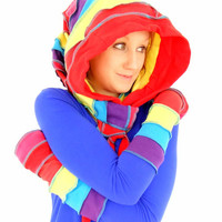 Rainbow Cotton Scoodie and Arm warmers - Ready to Ship
