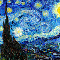 """VINCENT VAN GOGH poster reproduction of painting """"Starry Night"""", 1889.print on canvas"""