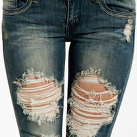 Destroyed Skinny Jeans $40 (on sale from $58)