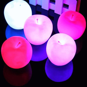 Apple LED Light Projectors Night Lamp Severn Colors Changable Gifts for Children Kids Fashion = 1705530564