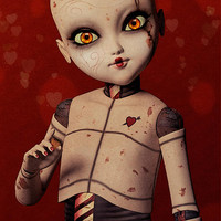 Ball Jointed Doll - Love Digital Art by Liam Liberty - Ball Jointed Doll - Love Fine Art Prints and Posters for Sale