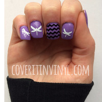 Dragonfly Nail Decals - Set of 60