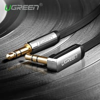 Ugreen 3.5mm audio cable 90 degree right angle flat jack 3.5 mm aux cable for iPhone car headphone beats speaker aux cord  MP3/4