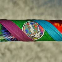 GrAteFuLLy DeADiCaTeD -  Best Selling Decal Hula Hoop - Choose ANY Color Tapes.  YOUR Choice Dancing Bears OR Steal Your Face Decals.