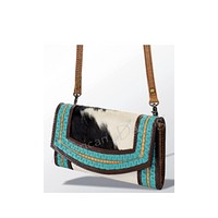 American Darling Back 40 Hair on Hide 2-n-1 Wallet/Crossbody Bag