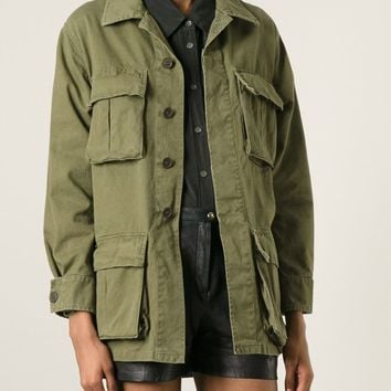 Saint Laurent Embroidered Military Jacket - Apropos The Concept Store - Farfetch.com