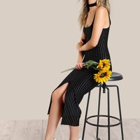 Pinstripe Bodycon Dress