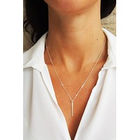 Flat Modern Bar Necklace - Christine Elizabeth Jewelry