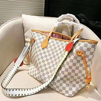 Louis vuitton casual fashion shopping printed bag popular shoulder bag