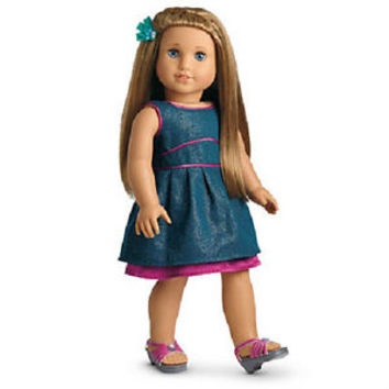 American Girl McKenna's FANCY OUTFIT Teal Dress Pink Sandals  for McKenna Doll