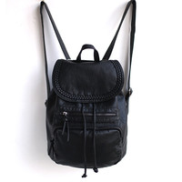 Hot Sale Rinsed Denim Backpack Vintage England Style Korean Soft Travel Bags [4915797508]