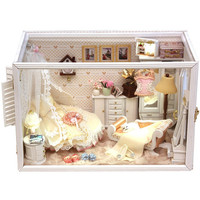 DIY Princess Room Miniature Music Box Handcraft Kit Birthday Gifts Christmas Gift Kids Girlfriend Toy Assembly Dollhouse kits Model Kits