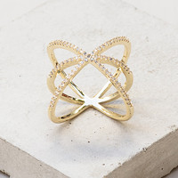 Criss Cross X Ring - Gold