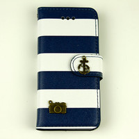 stripe iphone 5s case phone cases wallet iphone 5c case 4s iphone 5 anchor case gifts camera accessories iphone 5 wallet iphone 5c flip case