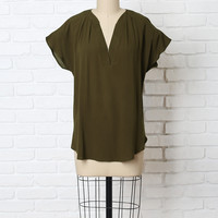 Georgia V-Neck Blouse-FINAL SALE