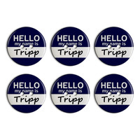 Tripp Hello My Name Is Plastic Resin Button Set of 6