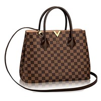 Authentic Louis Vuitton Damier Kensington Shoulder Handbag Article: N41435 Made in France