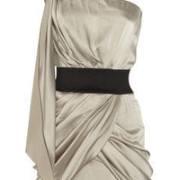 Foley + Corinna One-shoulder stretch-silk mini dress - 60% Off Now at THE OUTNET