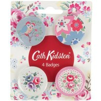 Cath Kidston - Chelsea Flowers Button Badge Set