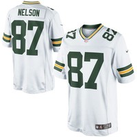 Men's Green Bay Packers Jordy Nelson Nike White Limited Jersey