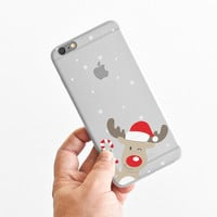 Curious Christmas Reindeer - Winter - Snow - Super Slim - Printed Case for iPhone - S055