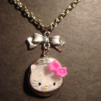 Hello Kitty Locket Necklace Victorian Style by CreepyCreationz