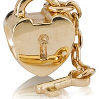 Pandora Gold Key to My Heart Charm - Precious Accents